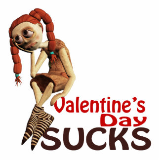 valentines day sucks sad girl standing photo sculpture