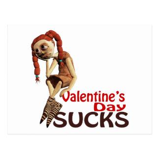 valentines day sucks sad girl postcard