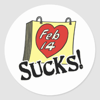 Valentine's Day Sucks Stickers