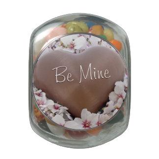 Valentine's Day: Sweet Chocolate Heart Glass Candy Jars