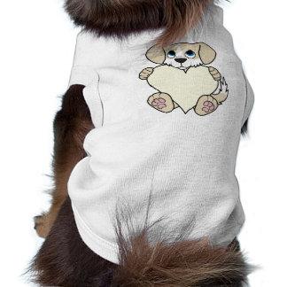 Valentine's Day Tan Dog with Blaze & Cream Heart T-Shirt