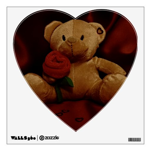 Valentine's Day Teddy Bear Room Sticker