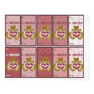Valentine's Day Teddy Bear Variety Pack Classroom Flyer