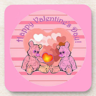 Valentines Day Teddy Bears Drink Coasters