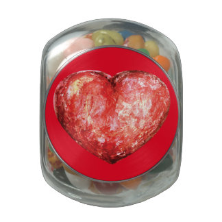 Valentine's day texture design jelly belly candy jar