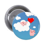 Valentine's day: The Wings of Love button badge