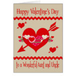 Valentine's Day to Aunt and Uncle Greeting Card