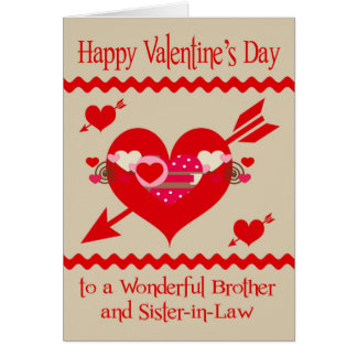Valentineu0026#39;s Day To Brother And Sister In Law Card. Valentineu0027s ...