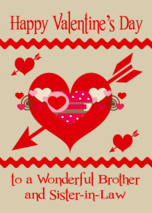 Valentine's Day To Brother and Sister-in-Law Holiday Card