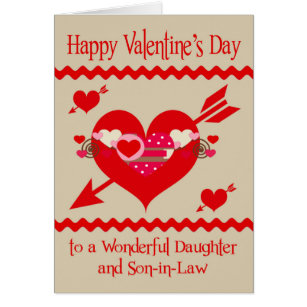 Daughter in laws valentine cards greeting photo cards zazzle valentines day to daughter and son in law card m4hsunfo Image collections