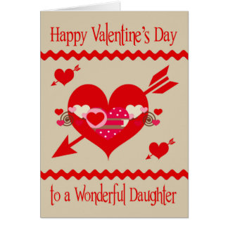 valentines day to daughter card