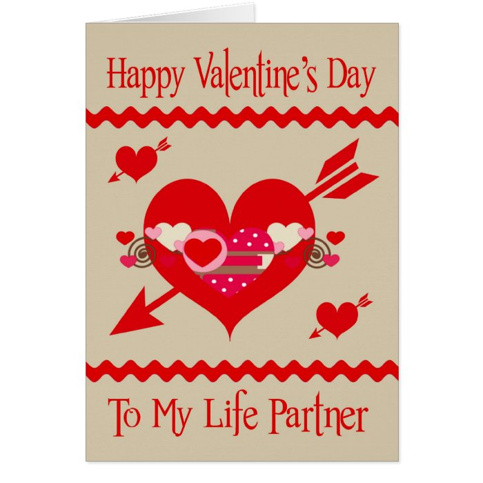 Valentine's Day To Life Partner greeting card