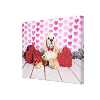 Valentine's Day - Tobey - Cocker Spaniel Canvas Print