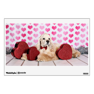 Valentine's Day - Tobey - Cocker Spaniel Wall Decal