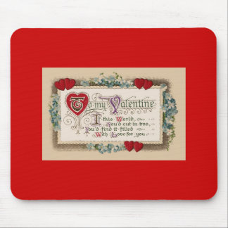 Valentine's Day Traditional Poem Hearts Mouse Pad