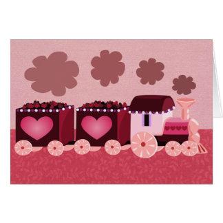 Valentine's Day Train Card