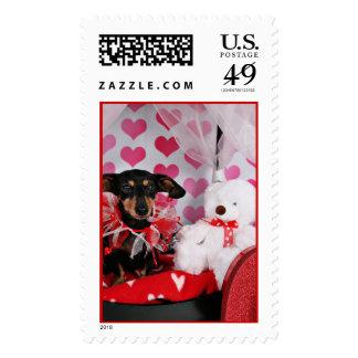 Valentine's Day - Trudy - Dachshund Postage