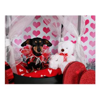 Valentine's Day - Trudy - Dachshund Postcard