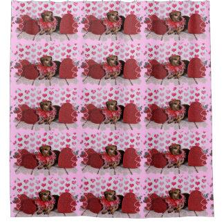 Valentineu0027s Day   Trudy   Dachshund Shower Curtain