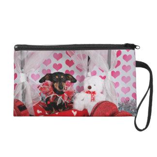 Valentine's Day - Trudy - Dachshund Wristlet