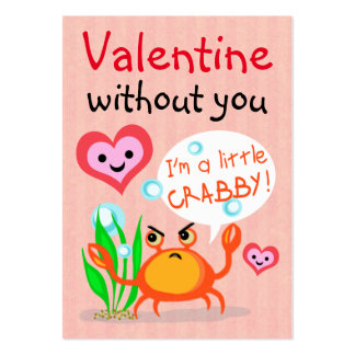Valentine's Day Valentine Business Cards Template