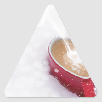 Valentine's Day Valentine Love Coffee Heart Mug Triangle Sticker