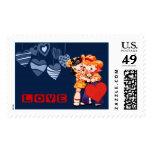 Valentine's Day Vintage Style Postage Stamp Stamp