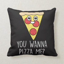 Valentines Day 'Wanna Pizza Me? Pillow Cushion