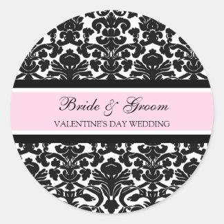 Valentine's Day Wedding Bride Groom Envelope Seals Round Sticker