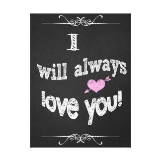 Valentine's Day, Wedding Canvas Chalkboard Art Canvas Print