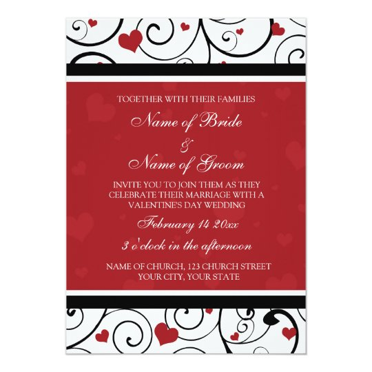 Valentine S Day Wedding Invitation Cards Zazzle Com