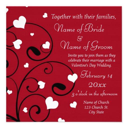 Valentine's Day Wedding Invitation Photo Cards