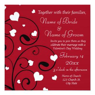 """Valentine's Day Wedding Invitation Photo Cards 5.25"""" Square Invitation Card"""