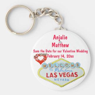 Valentine's Day Wedding Las Vegas Keychain
