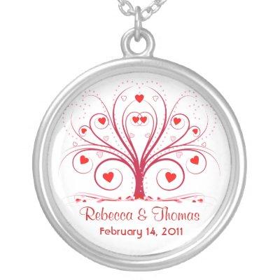 Valentine's Day Wedding Pendant Necklace from Zazzle.