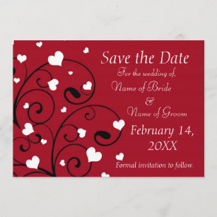 Valentines Day Save The Date Cards Zazzle
