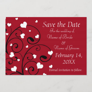 Valentine's Day Wedding Photo Save the Date Cards