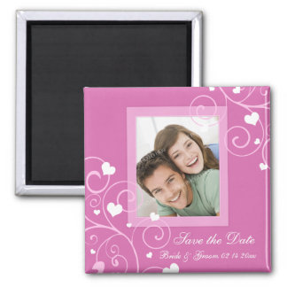 Valentine's Day Wedding Save the Date Photo Magnet