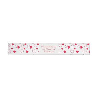 Valentines Day Wedding Wrap Around Address Label