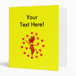Valentines Day Whimsy Gifts & T Shirts 3 Ring Binder