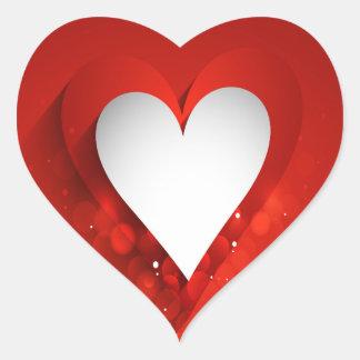 Valentine's Day White Heart - Customize Heart Sticker