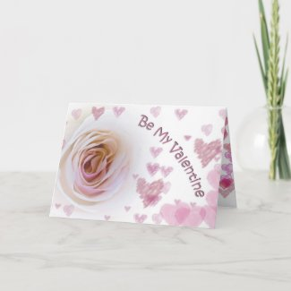 Valentine's Day White Rose Card