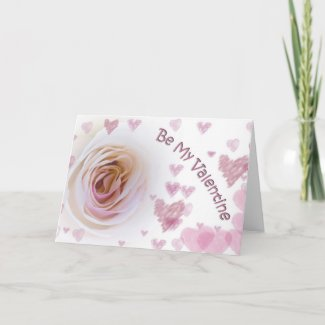 Valentine's Day White Rose Greeting Card