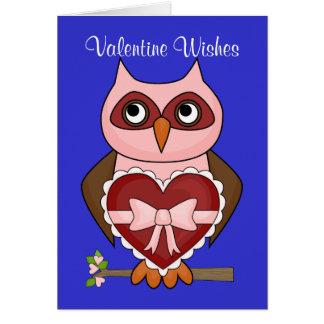 Valentine's Day Wishes - Friendly Owl Card