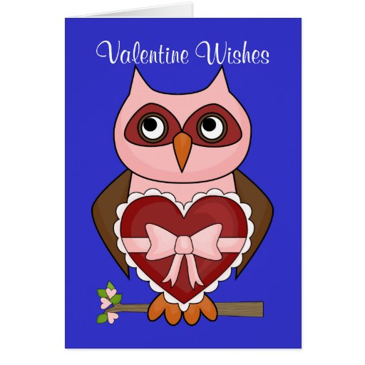 Valentine's Day Wishes - Friendly Owl Cards