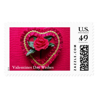 Valentines Day Wishes US Postage Stamp