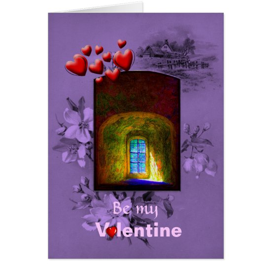 Valentines Day Wishing WIndow - Be Mine Card