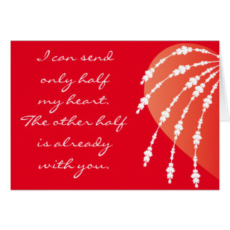 Valentine's Day Without You Here Card