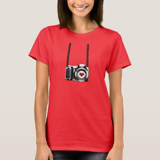 Valentine's Day Women Love Photographer T-shirt