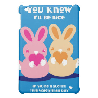 Valentines day- You know I'll be nice rabbits iPad Mini Case